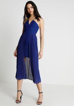 Rare London PLEATED DRESS - Cocktailkleid/festliches Kleid - cobalt - Zalando.de