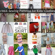 20 amazing FREE sewing patterns for kids' clothes that you'll LOVE!