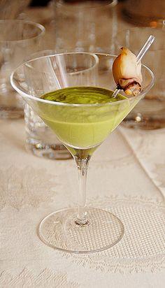 """""""Martini"""" di seppie con piselli"""