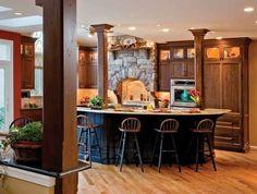 Des colonnes design pour une maison de style salons et design - Colonne exterieure pour maison ...