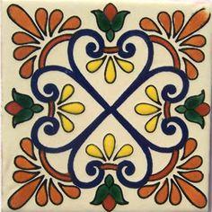 Mexican Talavera tile: oc 501