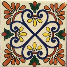 Mexican Talavera tile: oc 501 $175