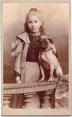 girl and pug by Libby Hall Dog Photo, via Flickr
