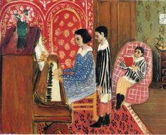 Acheter Tableau 'La Leçon de Piano' de Henri Matisse - Achat d'une reproduction sur toile peinte à la main , Reproduction peinture, copie de tableau, reproduction d'oeuvres d'art sur toile