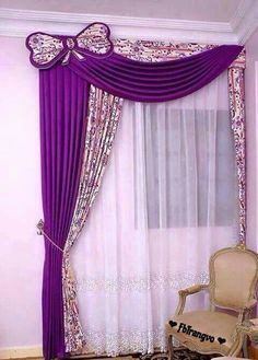 Curtain for girls room … – Lighting Ideas Girls Room Curtains, Home Curtains, Green Curtains, Curtains With Blinds, Mini Blinds, Curtains Living, Wood Blinds, Valances, Girls Bedroom