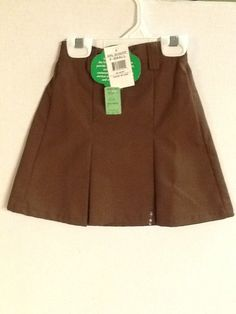 Girl Scouts Skort Brown X-Small Small Large Plus Brownies Skirt New! #GirlScouts #SkirtSkort #Brownies