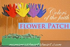 Colors of the Faith Flower Patch mothers day, colors, flower patch, kids bible, garden kids, faith flower, flowers, crafti inspir