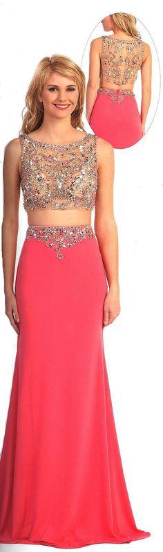 Two Piece Evening Dresses UNDER $200&lt-BR&gt-aqn9445&lt-BR&gt-Two piece scoop ...