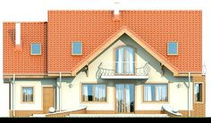 Elewacja DN Karmelita CE Small House Plans, Home Fashion, Beautiful Homes, House Design, Mansions, House Styles, Big Thing, Polish, Home Decor