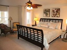 Master Suite - OVER 400 SQUARE FEET OF CALM IN THE MASTER FEATURING A KING PILLOWTOP AND CEILING FAN