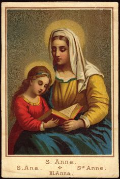 Carmelite Heritage: Sts Joachim and Anne, parents of Virgin Mary and protectors of the Carmelite Order: Memorial, July 26 Blessed Mother Mary, Blessed Virgin Mary, Catholic Saints, Patron Saints, Roman Catholic, Vintage Holy Cards, Christian Images, Mama Mary, Santa Ana
