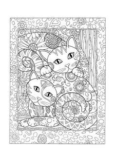 Kinderbilder fürs kinderzimmer katze  Ausmalbilder Katzen - kostenlose Malvorlagen zum Ausdrucken ...