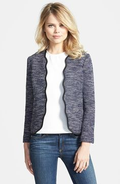 Chelsea28+Scalloped+Front+Jacket+available+at+#Nordstrom