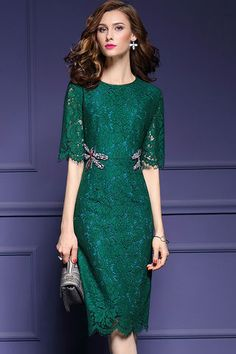 $39.99 Green Lace Dragonfly Beaded Dressproducts_id:(1000012966 or 1000012316 or 1000012638 or 1000012424)