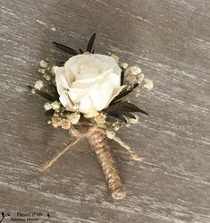 """Boutonniere """"Rencontre"""" natural look bohemian wedding, natural rose groom buttonhole baby's breath flowers ,man or woman brooch for wedding Boutonnieres, Carnation Boutonniere, Feather Boutonniere, Bullet Boutonniere, Thistle Boutonniere, Yellow Boutonniere, Sunflower Boutonniere, Rose Wedding Bouquet, Corsage Wedding"""