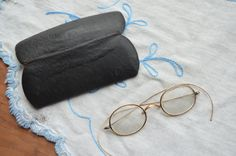 $89.90 ✿ bluefolkhome on etsy ✿ Antique Gold Wire Spectacles Antique Eye Glasses in Original Case 1880 1910 from Western PA Excellent Condition -  I Ship Internationally by bluefolkhome on Etsy