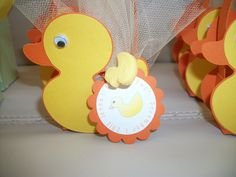 duck box baby shower favor made using the cricut new arrival cartridge