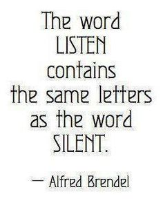 The word Listen contains the same letters as the word Silent ... social