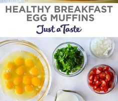 Healthy Breakfast Egg Muffins Healthy Breakfast Egg Muffins Enjoy a healthy start to your morning with a quick and customizable recipe...