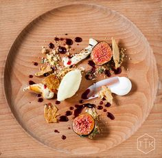 Fig with Fig Leaf Ice Cream - The Test Kitchen Cape Town (3 set menus)