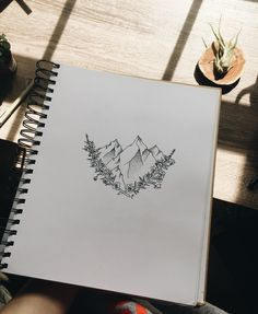 Alaskan Flowers Mountain Tattoo Design-Bonjour Nell Company-Illustration à l'encre. Nature Tattoos, Mountain Tattoo, Mountain Tattoo Design, Trendy Tattoos, Graphic Design Tattoos, Sleeve Tattoos, New Tattoos, Alaskan Tattoos, Tattoo Designs