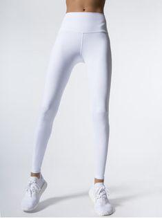 652bb06818825 ALO YOGA High-Waist Dash Leggings White LEGGINGS White Workout Leggings,  White Leggings Outfit