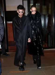 Gigi Hadid and Zayn Malik Wore 'Matrix' Inspired Outfits on a Night Out - HarpersBAZAAR.com