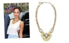 Cara Santana looking stunning in the Norah pendant | Stella & Dot