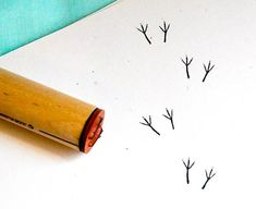 Bird Tracks  Rubber Stamp by norajane on Etsy