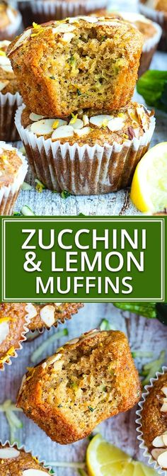 Healthy Lemon Zucchini Muffins Paleo Gluten Free - Its Time To Use Up All Of Those Delicious Summer Squash Growing In Your Garden By Whipping Up A Batch Of These Healthy Zucchini Muffins Not Only Are These Zucchini Muffins Bursting With Fresh L Paleo Zucchini Muffins, Zucchini Muffin Recipes, Healthy Breakfast Muffins, Gluten Free Recipes For Breakfast, Gluten Free Muffins, Gluten Free Snacks, Gluten Free Breakfasts, Eat Breakfast, Breakfast Casserole