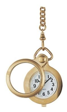 Avalon Gold-Tone Low Vision Magnifying Glass Pocket Watch # 1404 Avalon. $22.95. Scratch resistant mineral crystal and lens. Classic white dial with bold block black numbers and hands. Hassle free lifetime limited warranty. Unique and sturdy gold-tone round pocket watch with 2X magnifier bezel. Accurate Japanese Quartz Movement. Save 71% Off!