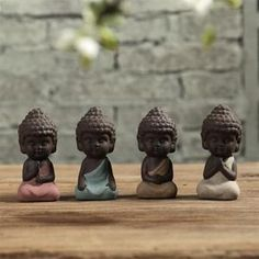 Buy Small Buddha Statue Sculptures Monk Tathagata India Yoga Ceramic Tea Ceremony Ornaments at Wish - Shopping Made Fun Small Buddha Statue, Buddha Statues, Buddha Decor, Little Buddha, Ceramic Techniques, Ornament Crafts, Gadget Gifts, Modern Ceramics, Tea Ceremony