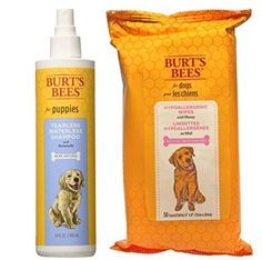 Burt's Bees For Dogs Puppy Tearless Waterless Shampoo with Buttermilk and Wipes Bundle >>> Learn more by visiting the image link.