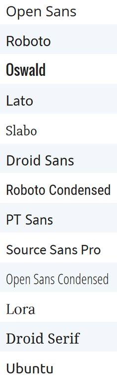 google-fonts-beliebteste  + Link zu Kombinationen