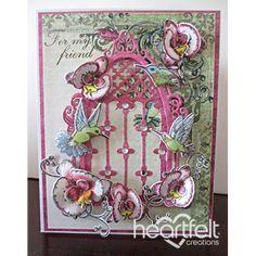Heartfelt Creations - Orchid Friendship Window Project