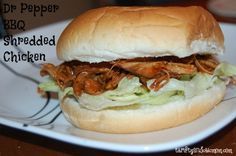 dr pepper bbq shredded chicken sandwich 1
