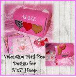 Valentine Mailbox Embroidery Machine Design For 5x7Hoop