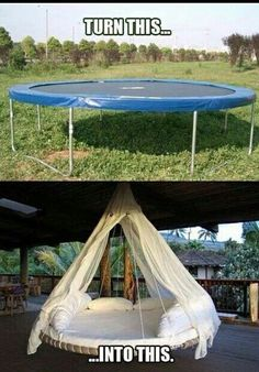 Ha genious! Turn a trampoline into a cool HANGout!