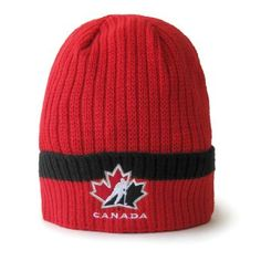 Hockey Canada – Penalty Box Knit Tuque. SALE: $19.99 Stocking Stuffers, Hockey, Beanie, Stockings, Canada, Knitting, Box, Fall, Gifts
