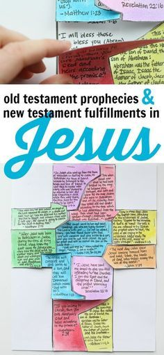 Make this beautiful cross puzzle using the printable as a way to show the Old Testament prophecies and New Testament fulfillments in Jesus Christ! Rewrite in KJV Sunday School Lessons, Sunday School Crafts, Bible Lessons, Lessons For Kids, Scripture Study, Children's Bible, Audio Bible, Bible Verses, Bible Activities