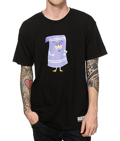 Grab a fun new style thanks to a South Park and HUF collaboration with a bloodshot eyes towelie graphic at the chest of a tagless black colorway.