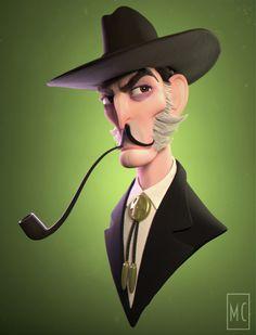 Old Man Bust by Megan Chocholek | Cartoon | 3D | CGSociety