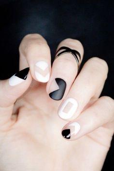 Negative space nail art | theglitterguide.com