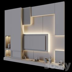 Tv Feature Wall, Feature Wall Living Room, Study Table Designs, Living Room Tv Unit Designs, Tv Wall Panel, Wall Tv, Ceiling Design, Wall Design, Lcd Units