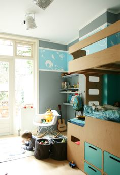 """See our web site for even more details on """"modern bunk beds for girls room"""". It is actually an outstanding location to get more information. Bunk Beds Boys, Kid Beds, Loft Spaces, Kid Spaces, Built In Beds For Kids, Ideas Habitaciones, Modern Bunk Beds, Modern Bedroom Furniture, Kids Furniture"""