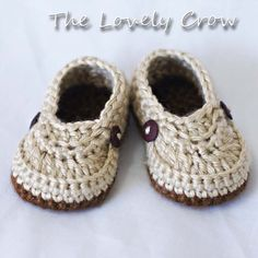 Crocheted booties, etsy