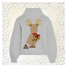 """ugly sweater challenge"" by art-gives-me-life ❤ liked on Polyvore featuring Iris & Ink and Christmassweater2016"