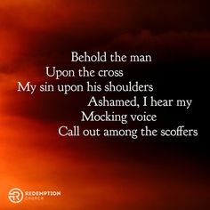 Behold the man upon the cross My sin upon his shoulders Ashamed I hear my mocking voice Call out among the scoffers. #GoodFriday  This Sunday celebrate with us the greatest story of hope. easterinedmond.com  #easter #eastersunday #edmond #okc #oklahoma #edmondok