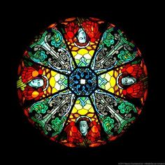 Rose window in the Armenian Cathedral of Lviv, Ukraine.