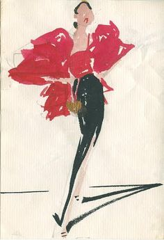 fabulous illustrations by Joe Eula for Halston (circa 1980) as seen on Full House Blog